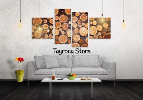 Cuadros Decorativos Tayrona Store 4 Partes Troncos De Madera