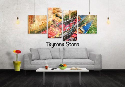 Cuadros Decorativos Tayrona Store 4 Partes Venecia 28